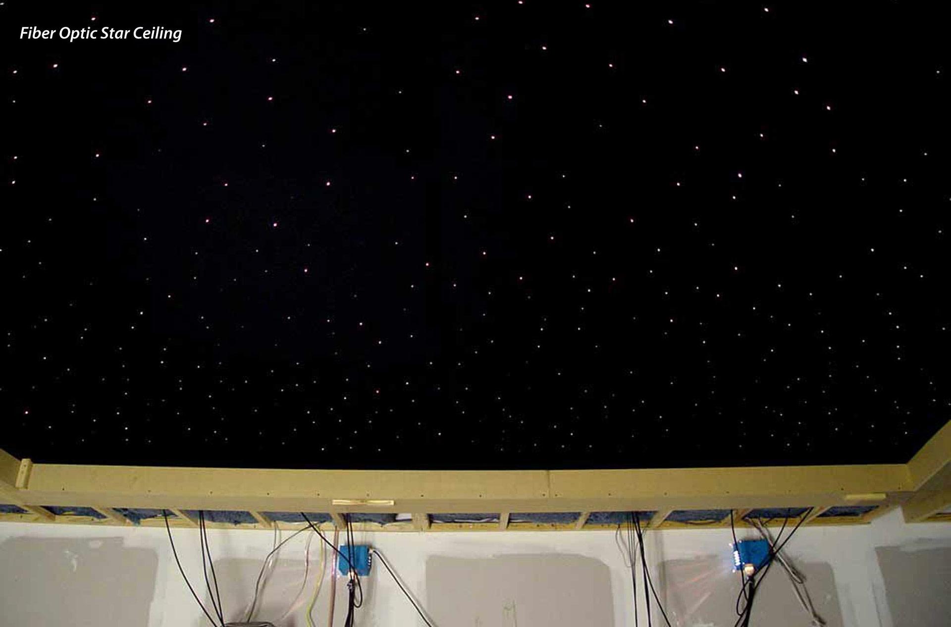 Star Ceiling Fiber Optics Or Painted