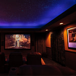 Cal Home Theater showing Night Sky Mural and movie logo