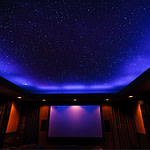 Cal Home Theater with Night Sky Mural