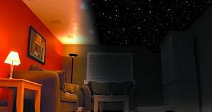 Night Sky Mural in light and dark